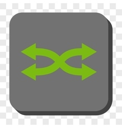 Shuffle Arrows Horizontal Rounded Square Button vector image