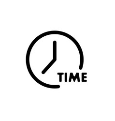 simple clock icon time with signaturesimple vector image