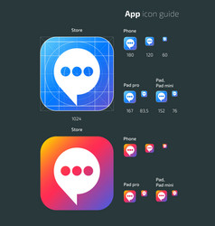 Smart phone app mobile os icon templates vector