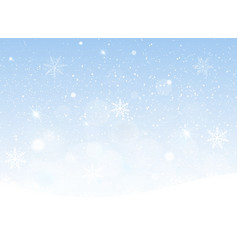 Snowing sky christmas vector