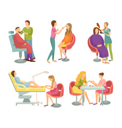 spa salon treatment and procedures icons vector image