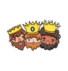 the three wise men design vector image