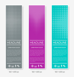 vertical halftone design banners vector image