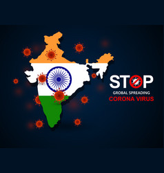 virus around india vector image