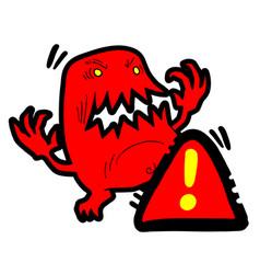 Warn danger vector