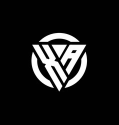 Xa logo with triangle shape and circle rounded vector