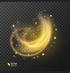 abstract magic glow star light effect vector image