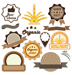 badges and labels of quality vector image