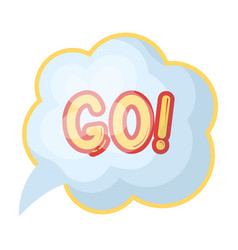 go in the cloudfans single icon in cartoon style vector image