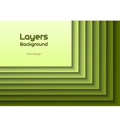 layers green text vector image