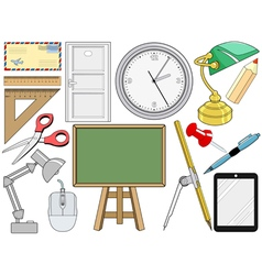 object related with office and education vector image vector image
