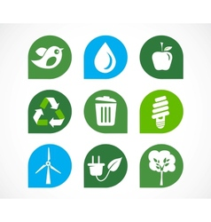 recycle icons vector image vector image