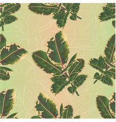 seamless texture ficus elastica ruby branch vector image