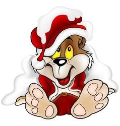 Bear Santa Claus vector image vector image