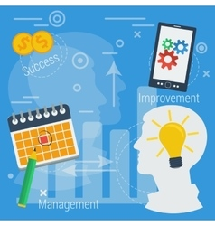 Business concept successful management vector image vector image