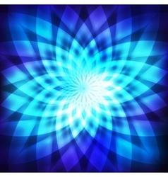 Cosmic blue flower vector image vector image