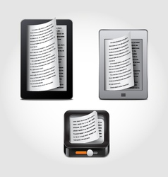 e-reader icons vector image vector image