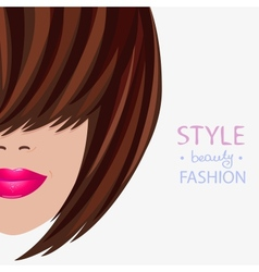 face style vector image