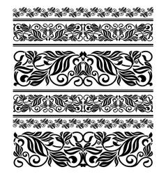 Floral ornament elements and embellishments vector
