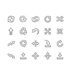Line Interface Arrows Icons vector image vector image