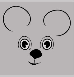 mouse cute funny cartoon head vector image vector image