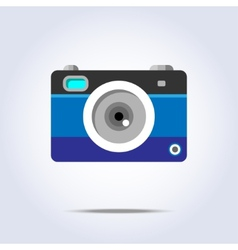 Photo camera icon blue color vector image