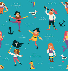 pirates pattern vector image