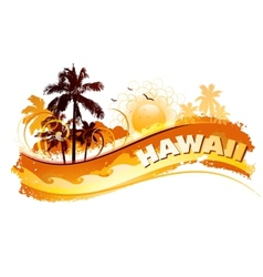 tropical hawaii background vector image vector image