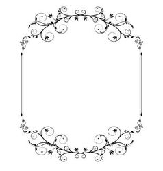 vintage frame with swirls vector image