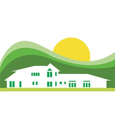 Hotel house background vector image