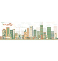 Abstract Toronto skyline with color buildings vector image