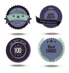 badge best choice label stamp sticker price tag vector image