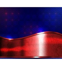 red metal plate vector image