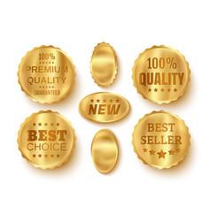 web golden banners vector image