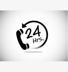 24 hr service business symbol service vector image
