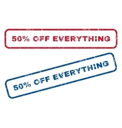 50 Percent Off Everything Rubber Stamps vector