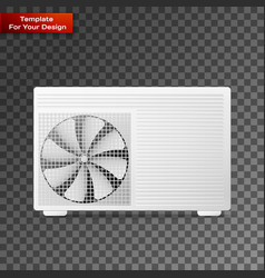 air conditioner linear icon vector image