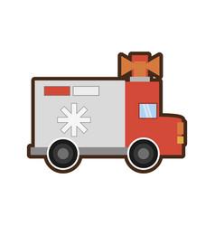 ambulance service transport emergency vector image