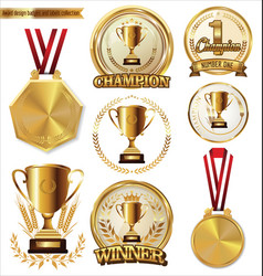 Award design badges and labels collection vector