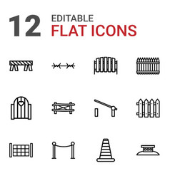 Barrier icons vector