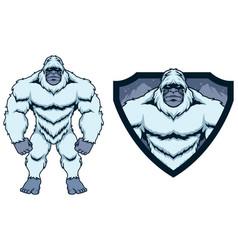 Bigfoot yeti mascot vector