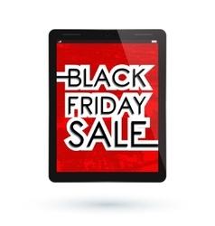 Black Friday tablet vector