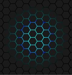 Black honeycomb vector