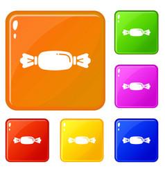 bonbon icons set color vector image