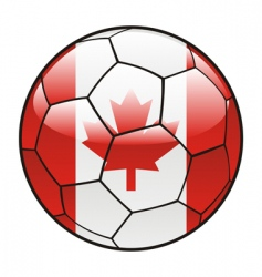 Canada flag on soccer ball vector