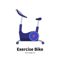 Cartoon stationary exercise bike vector