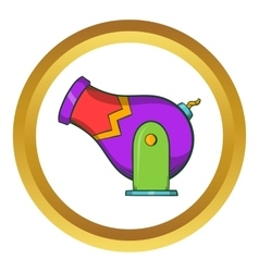 Circus cannon icon cartoon style vector