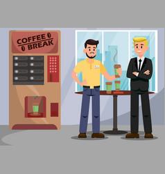 Colleagues at coffee break vector
