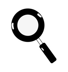 Contour magnifying glass symbol to search and vector