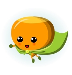 Cute Hazelnut Superhero Cartoon vector